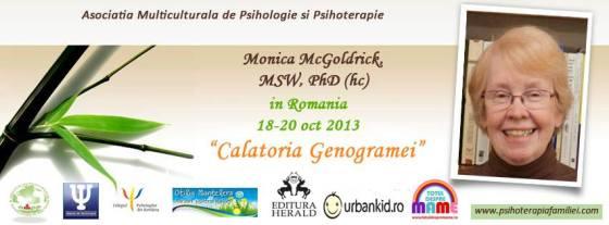 Călătoria Genogramei - Prof. Monica McGoldrick, pentru prima dată în România, București 18-20 oct. 2013